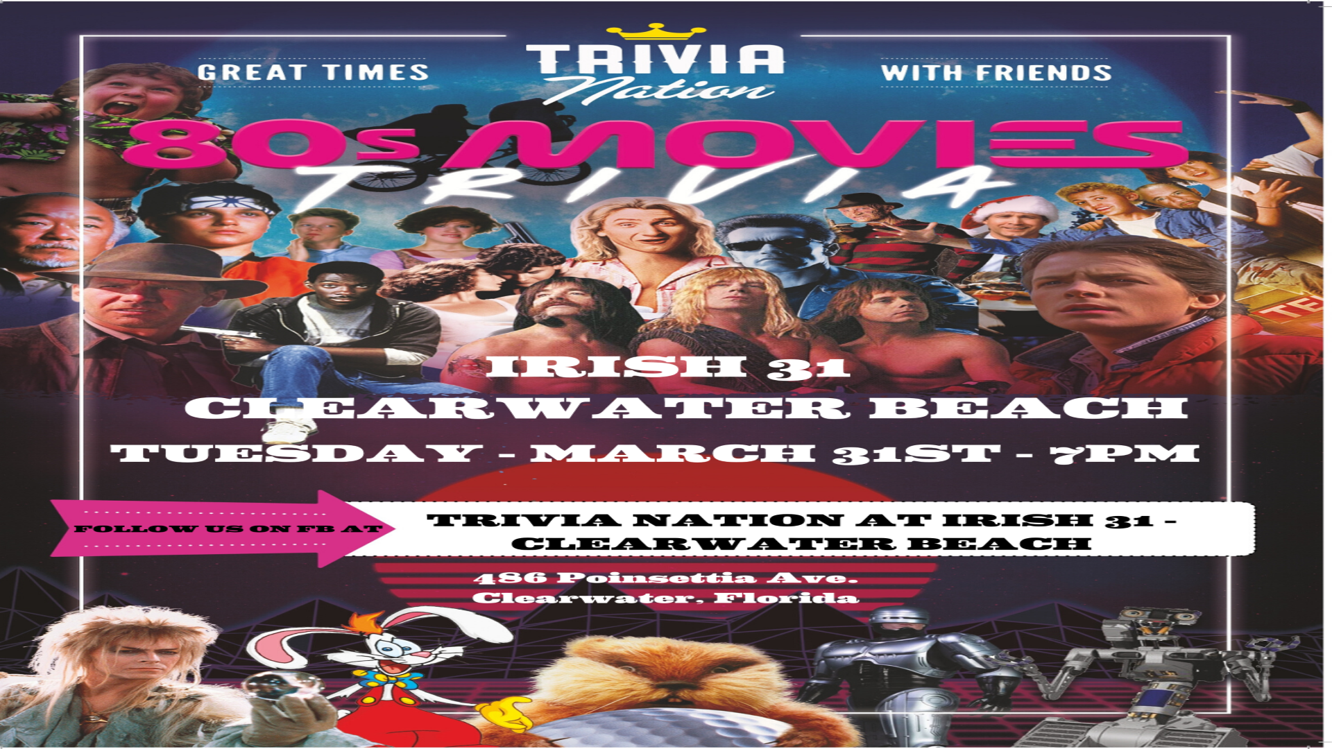 The 80s Movies Themed Live Trivia Night at Virtual Trivia via Zoom